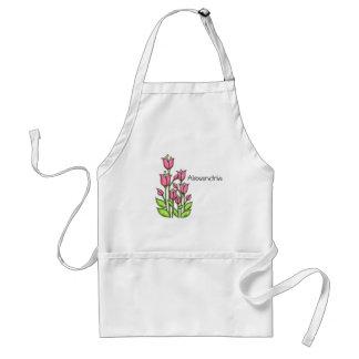 Gesegnete Watercolor-Gekritzel-Blumen-Schürze Schürze