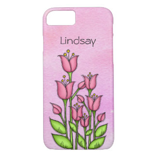 Gesegneter Watercolor-Gekritzel-Blume iPhone 7 iPhone 8/7 Hülle