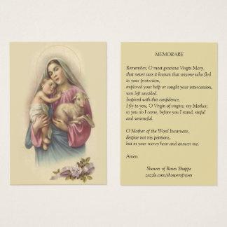 Gesegnetes Gebet Jungfrau-Mary-Baby-Jesuss Visitenkarte