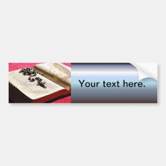 Gesegnetes Jungfrau-Mary-Bibel-Rosenbeet Autoaufkleber
