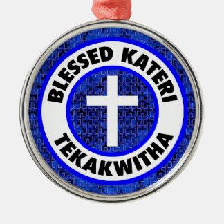 Gesegnetes Kateri Tekakwitha Silbernes Ornament