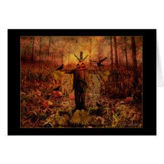 Gesegnetes Samhain - Vogelscheuche-Karte Grußkarte