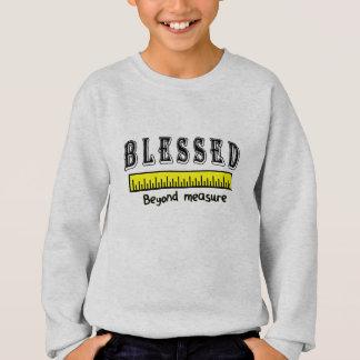 Gesegnetes unmäßig christliches positives sweatshirt