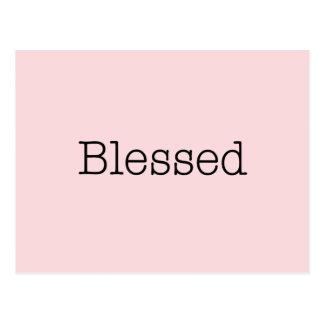 Gesegnetes Zitat-Rosa-inspirierend Glauben-Zitat Postkarte