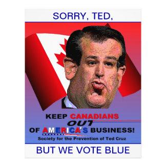 Gesellschaft für die Verhinderung von Ted Cruz Flyer