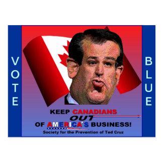 Gesellschaft für die Verhinderung von Ted Cruz Postkarte