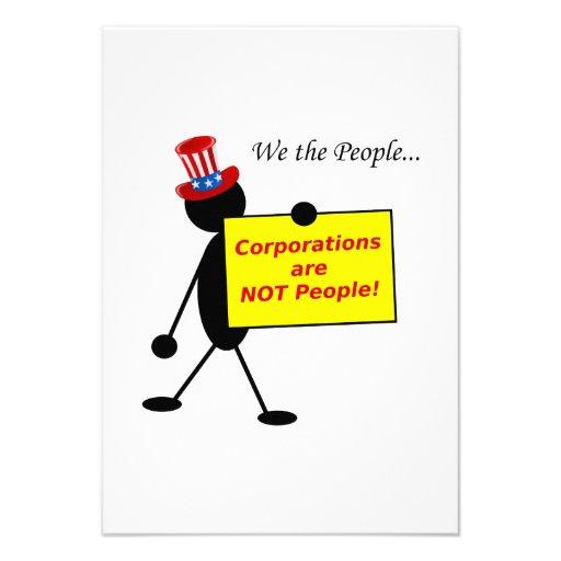 Gesellschaften sind NICHT Leute Individuelle Ankündigskarten