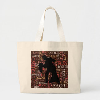 Gesellschaftstänze-Paar-Silhouette, riesige Tasche
