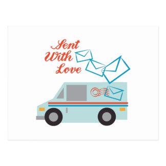 Gesendet mit Liebe Postkarte