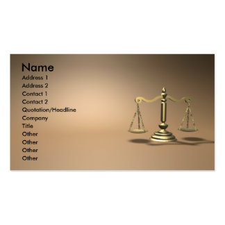 Gesetz Visitenkarten Vorlagen