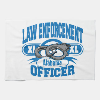 Gesetzeshüter fesselt Alabama mit Handschellen Geschirrtuch
