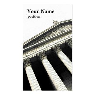 GesetzesVisitenkarteschablone Visitenkartenvorlage