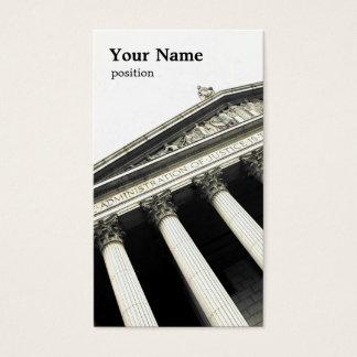GesetzesVisitenkarteschablone Visitenkarte