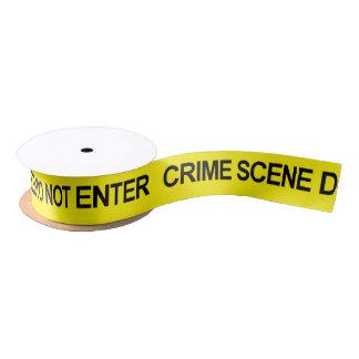 Gesetzesvollstreckung-Polizei-Tatort-Band Satinband