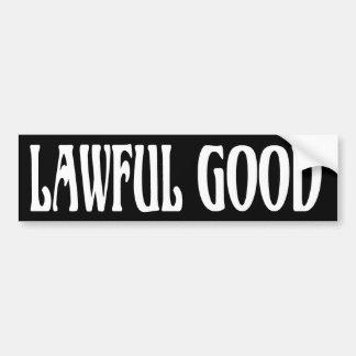 """""""Gesetzliche gute """" Autoaufkleber"""
