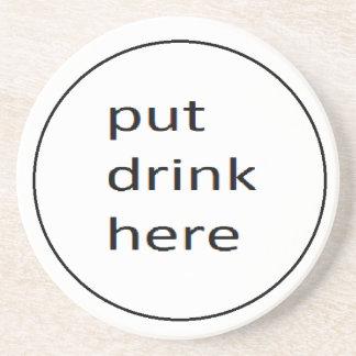 gesetztes Getränk hier coster Untersetzer