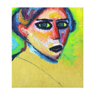 Gesicht Alexej von Jawlensky Womans Leinwanddruck