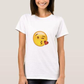 Gesicht, das einen Kuss Emoji wirft T-Shirt