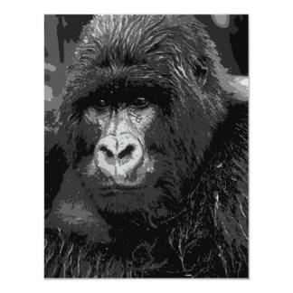 Gesicht der Gorilla-Einladungen - lustiges Tier 10,8 X 14 Cm Einladungskarte