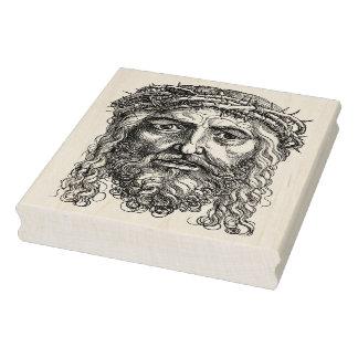 Gesicht der Jesus-Illustrationskunst-Briefmarke Gummistempel
