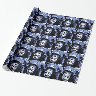 Gesicht des Affen Monkey Antlitz Geschenkpapier
