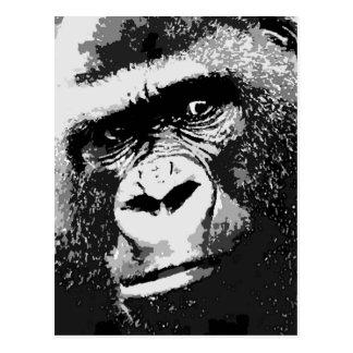 Gesicht des Gorillas Postkarte