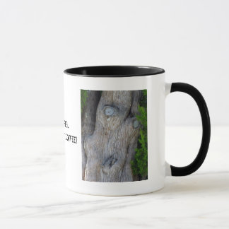 Gesicht im Zypresse-Baum, Tasse