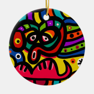 Gesicht Keramik Ornament