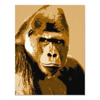Gesicht lustigen der Gorilla-kundenspezifischen 10,8 X 14 Cm Einladungskarte