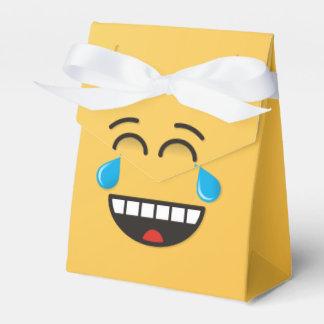 Gesicht mit Rissen der Freude Geschenkschachtel