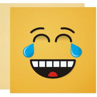 Gesicht mit Rissen der Freude Karte