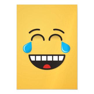 Gesicht mit Rissen der Freude Magnetische Karte