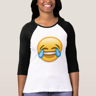 Gesicht mit Rissen von Freude emoji T-Shirt