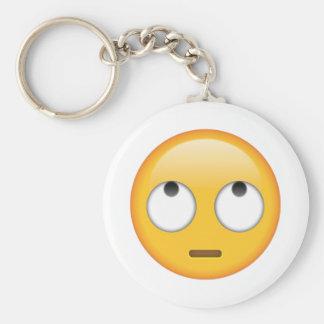 Gesicht mit Rollen-Augen - Emoji Schlüsselanhänger