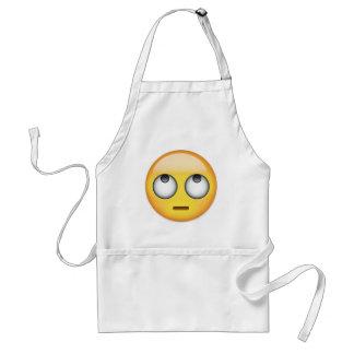 Gesicht mit Rollen mustert Emoji Schürze