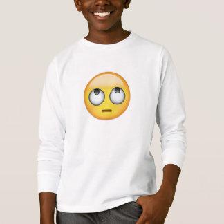 Gesicht mit Rollen mustert Emoji T-Shirt