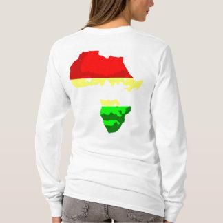 GESICHT VON AFRIKA (der Kapuzenpulli der Frauen) T-Shirt