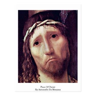 Gesicht von Christus durch Antonello DA Messina Postkarte