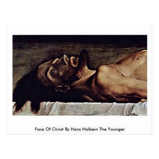 Gesicht von Christus durch Hans Holbein das Postkarte