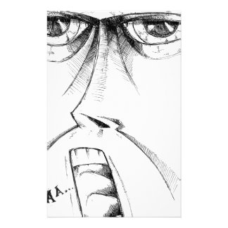 Gesicht, welches die Skizzekunst handgemacht Briefpapier