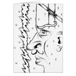 Gesicht, welches die Skizzekunst handgemacht Karte