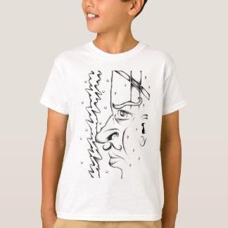 Gesicht, welches die Skizzekunst handgemacht T-Shirt