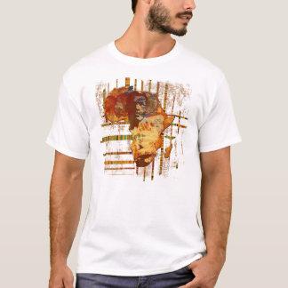 Gesichter afrikanischer ethnischer Stammes- Kunst T-Shirt