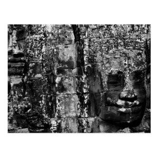 Gesichter auf dem Bayon (Postkarte) Postkarte
