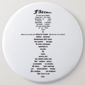 Gesichter der Sünde Runder Button 15,3 Cm