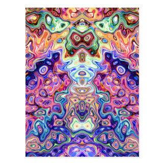 Gesichter in abstrakten Formen 8 Postkarte