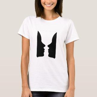 Gesichter oder Vasenillusion von zwei Gesichtern T-Shirt