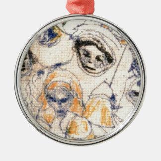 Gesichter Silbernes Ornament
