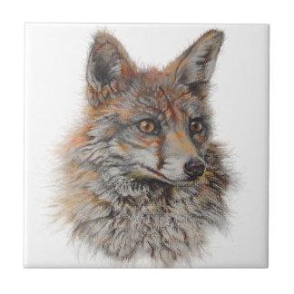 Gesichtskunst des roten Fuchses Keramikfliese