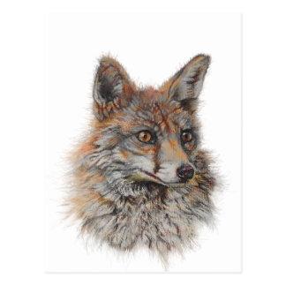 Gesichtskunst des roten Fuchses Postkarte
